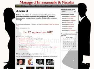 Le mariage d'Emmanuelle et Nicolas