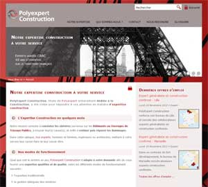 Création du site de Polyexpert Construction