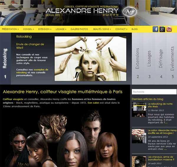 Refonte du site du salon de coiffure Alexandre Henry