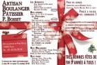Flyer pour un Boulanger-Pâtissier – Noël 2010-2011