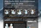 Star Ducks SEO, un blog d'information sur le référencement pour les Nuls