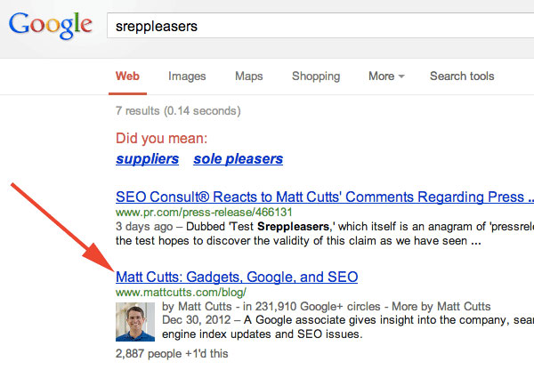 sreppleasers Matt Cutts